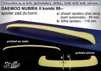 Spoiler zadní kapoty pro DAEWOO Nubira combi 1999r =>