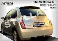 Zadní spoiler křídlo pro NISSAN Micra K12 2003-2010r