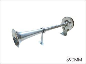 Elektromagnetická fanfára trubka dlouhá 390mm, CHROM, 12V Mohutný zvuk klakson