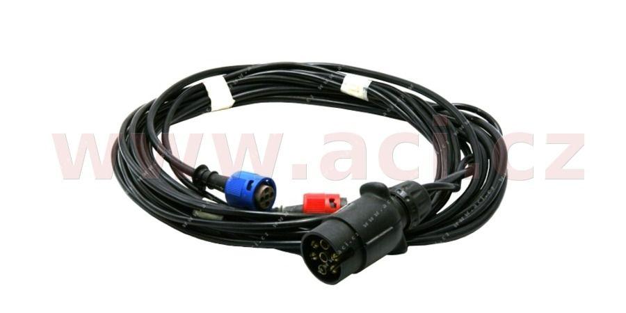 kabeláž pro přívěsné vozíky - 7pin zástrčka, 2x 5pinový konektor pro zadní světla, bez předních vývodů, délka 3,5m JOKON Vyrobeno v EU