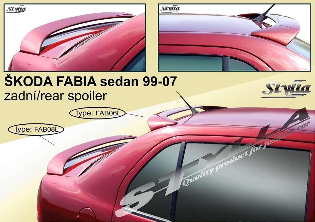Spoiler zadní kapoty a střešní na míru pro ŠKODA FABIA I sedan 99-2007r