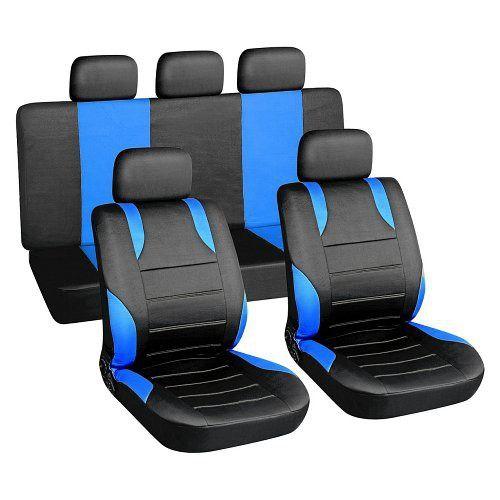 Autopotahy modré SPORT Univerzální na auto s atestem na airbag, zipem dělená lavice