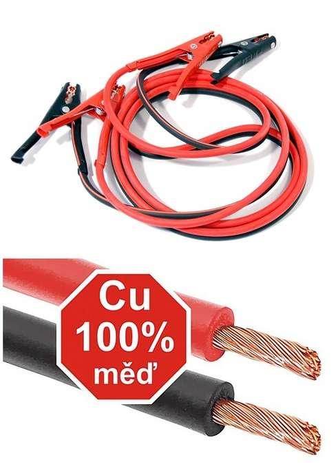 100% měďěné Startovací kabely 400 A 3m ZIPPER BAG