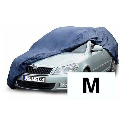 Autoplachta NYLON velikost M 431x165x119 cm, Celoroční ochranná plachta na auto