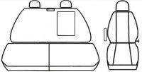 Autopotahy IVECO DAILY, 1+2, od r. 2014, šedočerné Vyrobeno v EU