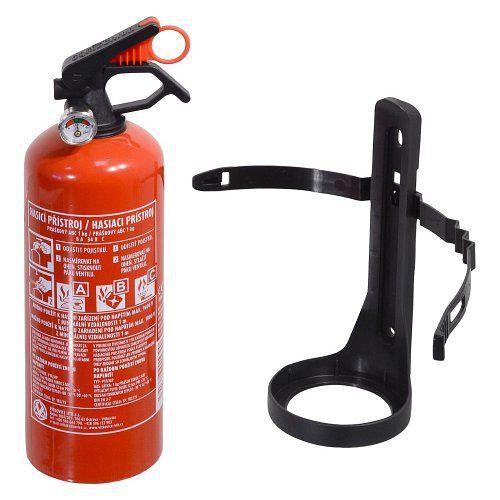 Práškový hasicí přístroj s vyšší hasící schopností(8A 34 B/C) a s držákem