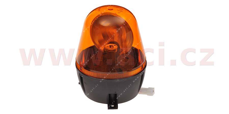 Magnetický maják oranžový 12/24V, žárovka H1, montáž na 3 šrouby modrá