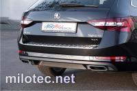 Dummy - koncovky výfuku, ABS - Alu-Brusch, Škoda Superb III. Limousine / Combi