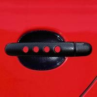 Kryty klik děrované, ABS karbon (4+4 ks bez zámku), Milotec