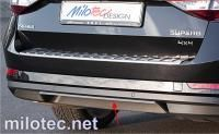 Lišta zadního nárazníku, ABS - Alu-Brusch, Škoda Superb III. Limousine / Combi