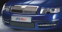 Ocelové nerezové Lišty předního nárazníku, Škoda Superb I 2002-2006