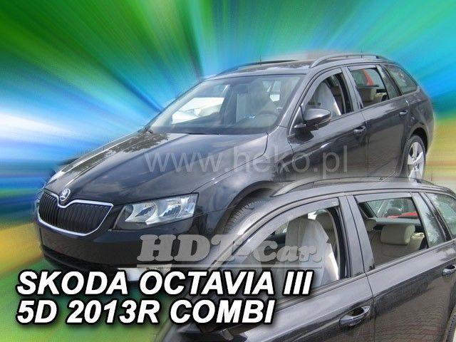 Plexi, ofuky Škoda Octavia III 5D 2013 =>, přední + zadní
