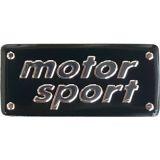 Hliníková nálepka znak Motor Sport 55 x 26 mm
