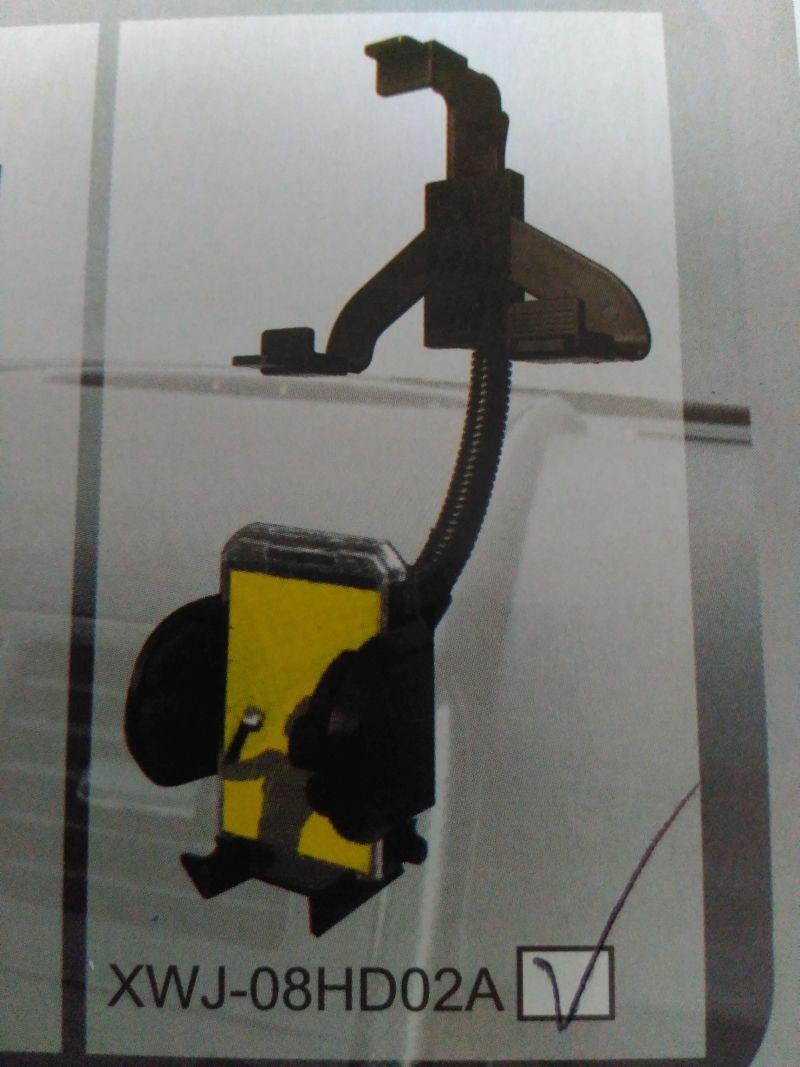 Univerzální držák na mobil, gps, s ohebným pevným krkem na zrcátko