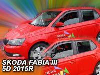 Ofuky oken Škoda Fabia III 5D dlouhý 2014r => 4ks přední+zadní
