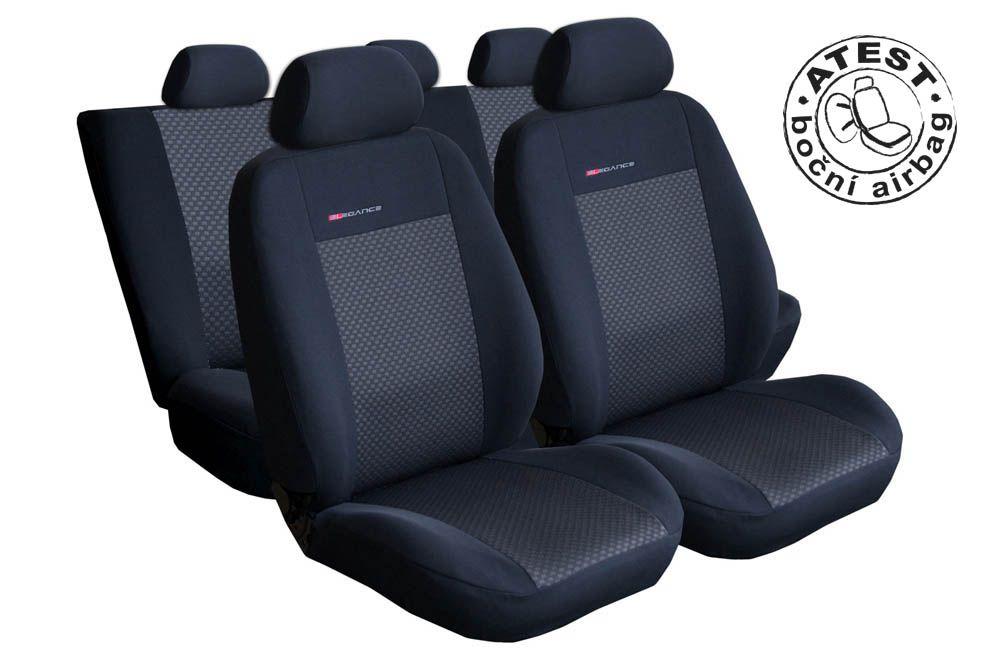 Autopotahy Opel Corsa, D, 5 dveř, FACELIFT, nedělené sedadla, černé