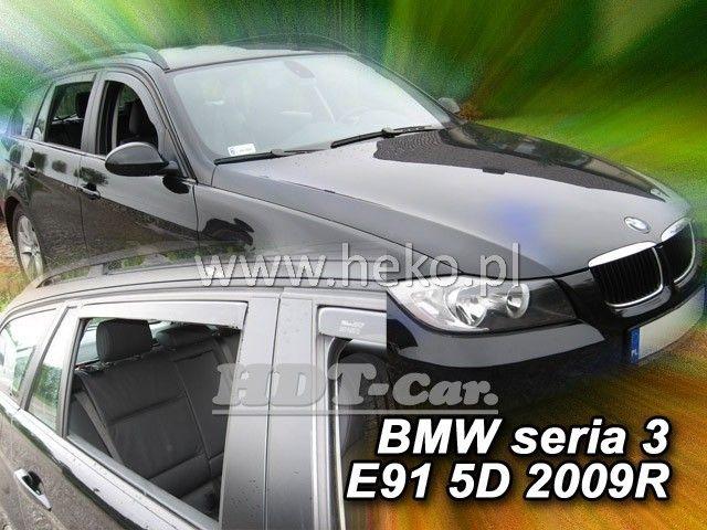 Plexi, ofuky BMW serie 3 E91 combi 5D 2005 =>, přední + zadní HDT