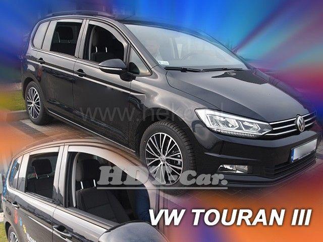 Plexi, ofuky bočních skel VW Touran 5D 15R =>, sada 4ks, přední + zadní