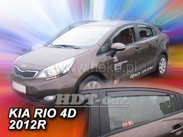 Plexi, ofuky KIA Rio 4D, sedan, 2012r =>, přední + zadní