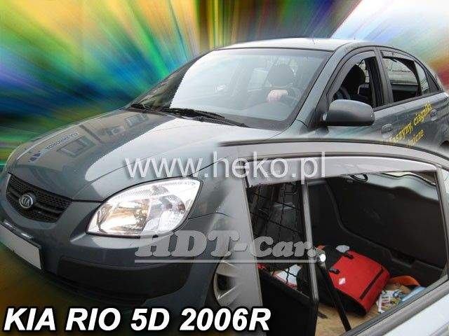 Plexi, ofuky KIA Rio HTB, 5D, 2005 =>, přední + zadní