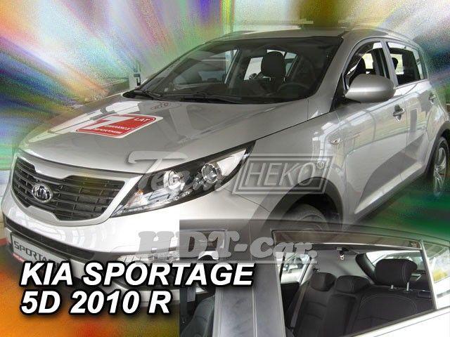 Plexi, ofuky KIA Sportage, 5D, 2010 =>, sada 4ks přední + zadní HDT