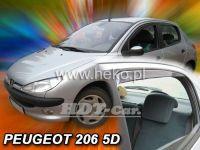Ofuky oken PEUGEOT 206 htb, 5D, 1998 =>, přední + zadní