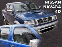 Ofuky oken Nissan Navara Pick up 4D 2001-2005r, přední + zadní