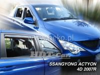 Ofuky oken Ssangyong ACTYON Sports 4D, 2007 =>, přední + zadní