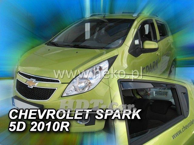 Plexi, ofuky Chevrolet 5D 2010 =>, přední + zadní