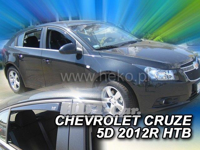 Plexi, ofuky Chevrolet Cruze 5D, htb, 2011 =>, přední + zadní