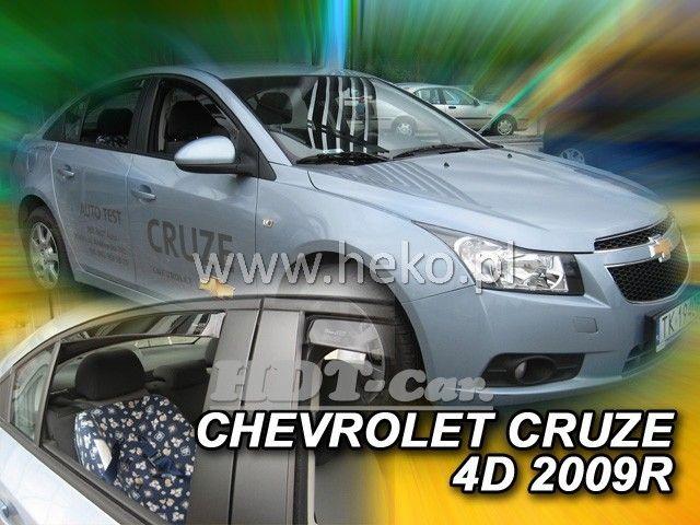 Plexi, ofuky Chevrolet Cruze od 2009r =>, 4dv. sada 4ks přední + zadní