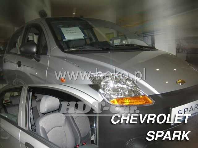 Plexi, ofuky Chevrolet Spark htb 5D 2005 =>, přední