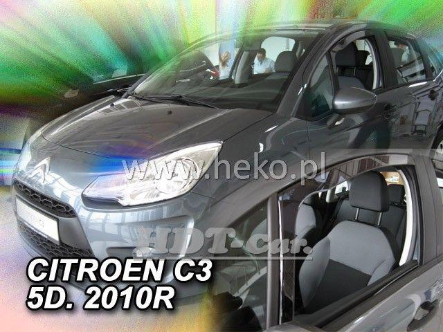 Plexi, ofuky Citroen C3 5D 2010 => přední HDT