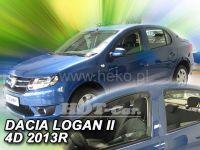 Ofuky oken Dacia Logan II 4D 2013r=> přední + zadní