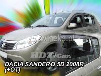 Ofuky oken Dacia Sandero od 2008r =>, 4ks, přední + zadní