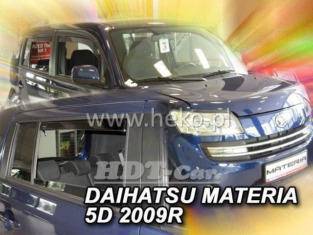 Plexi, ofuky Daihatsu Materia 5D 2006 =>, + zadní
