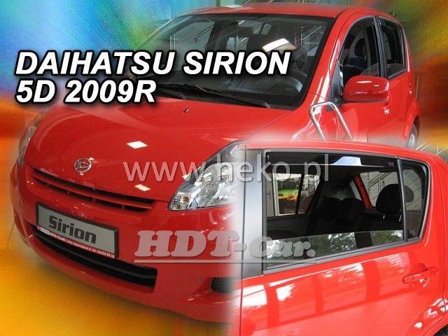 Plexi, ofuky Daihatsu Sirion 5D 2005 =>, + zadní