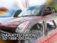 Ofuky oken Daihatsu Sirion 5D 98--02R + zadní