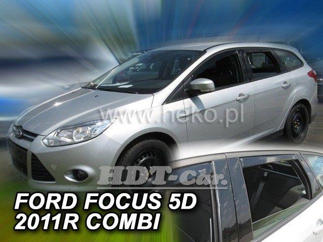 Plexi, ofuky FORD Focus combi, 5D 2011 =>, přední + zadní