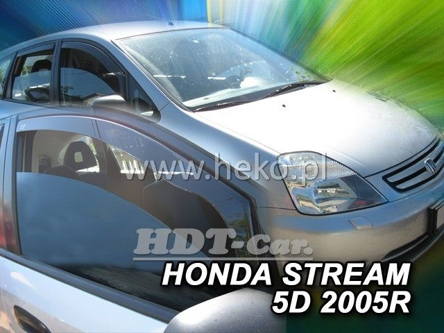 Plexi, ofuky Honda Stream 5D 2000-2007r přední HDT