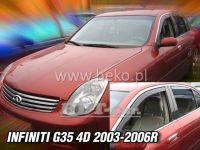 Ofuky oken Infiniti G35 4D 2003-2006r, přední + zadní