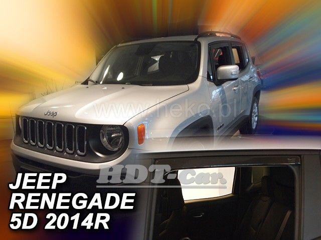 Plexi, ofuky Jeep Renegade 5D 14R (+zadní)