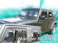 Ofuky oken JEEP Wrangler 5D 2007 =>, přední + zadní