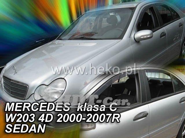 Plexi, ofuky MERCEDES C sedan, W203, 5D, 00-2007r, přední + zadní HDT