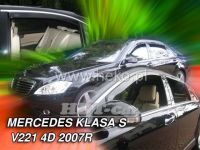 Ofuky oken MERCEDES S sedan W221, 4D, 2007r, => přední + zadní