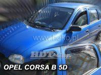 Ofuky oken OPEL Corsa B 5D, 93-2001, přední + zadní