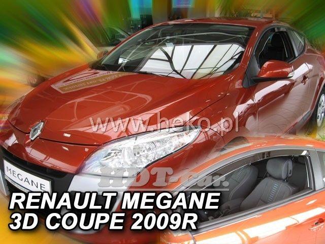 Plexi, ofuky RENAULT Megane Coupe 3D, 2009 =>, přední