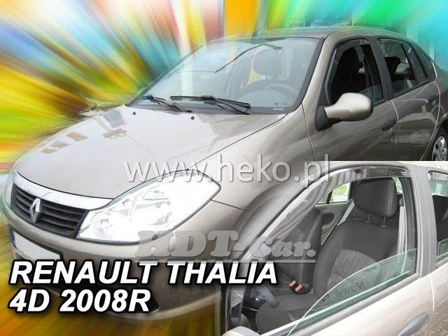 Plexi, ofuky RENAULT Thalia 4D, 2001 =>, přední