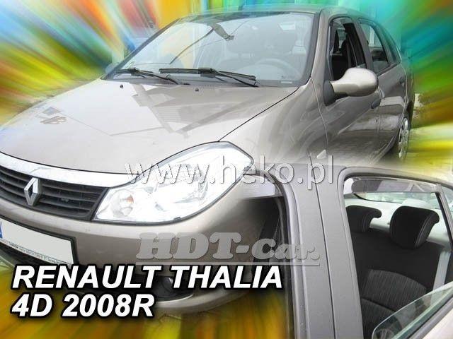 Plexi, ofuky RENAULT Thalia 4D 2008 =>, přední + zadní