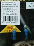 Palubní žárovka Led do palubní desky T5 12V, 2ks modrá